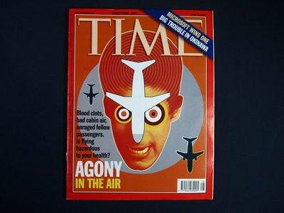 【懶得出門二手書】英文雜誌《TIME 2001.07.09》AGONY IN THE AIR│(21F11)