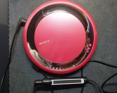 KV卡站 SONY EJ700 索尼CD隨身聽 馬來西亞製造 CD PLAYER 桃紅色