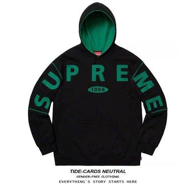 【潮牌館免運】 Supreme 19FW Spread Logo Hooded 經典大LOGO衛衣男女帽衫潮