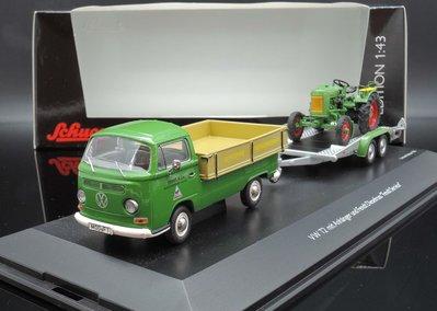 【MASH】[現貨特價] Schuco 1/43 VW T1 pick up + Fendt Dieselross