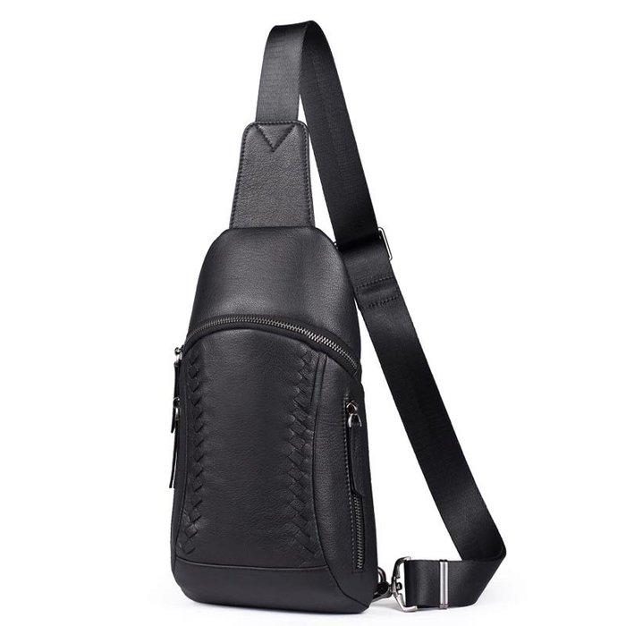 胸包 真皮背包 羊皮背包 手工編織胸包 免運費 KH X 6005 【FQ包包】