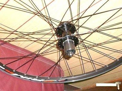【馬上騎腳踏車】*26吋32孔雙層v.碟兩用快拆鋁框輪組*ASSESS培林式花鼓*8.9.10卡式
