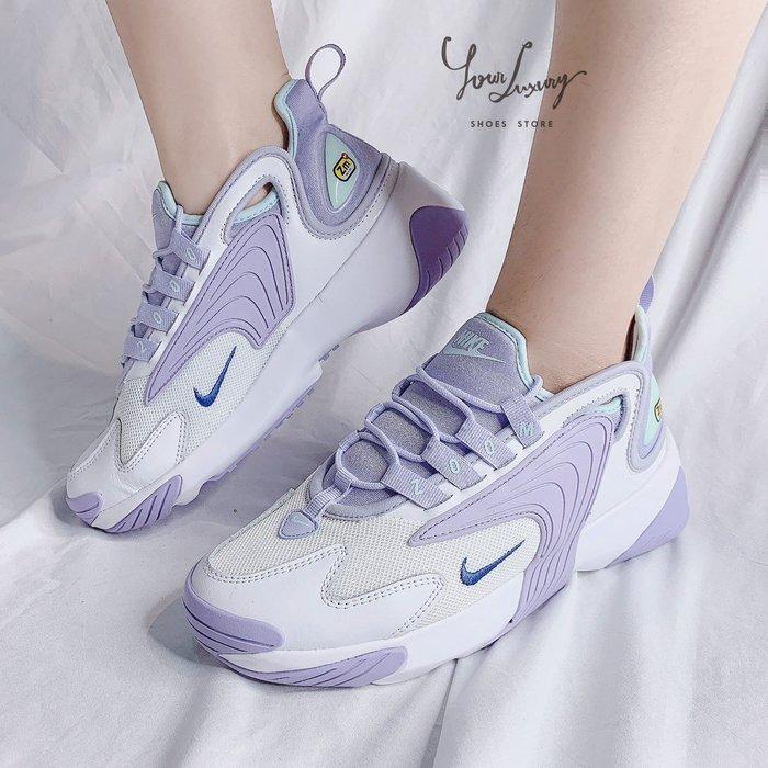 【Luxury】Nike Zoom 2K 皮革 復古 透氣網 男女鞋 黑白 白 藍 粉 紫 老爸鞋 韓國代購