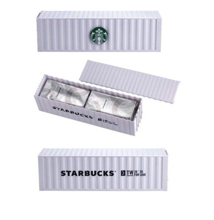 天使熊雜貨小舖~STARBUCKS 星巴克咖啡捲心酥週年貨櫃禮盒  全新現貨