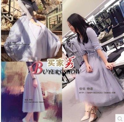 [160214-1]2016新款韓版李多海同款紗裙大擺A字裙蓬蓬裙