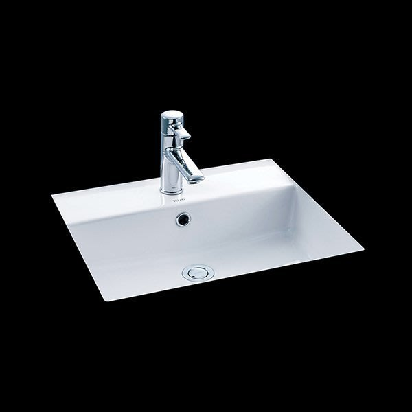 FUO衛浴: 二手出清商品  TOTO品牌67X45公分陶瓷下崁盆  LW1516B 一組