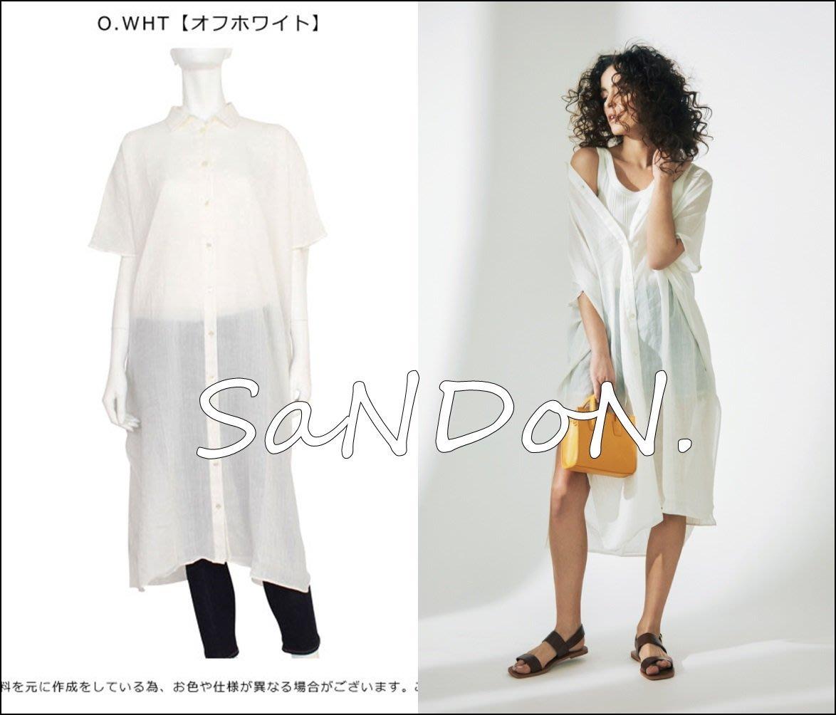 SaNDoN x UNGRID 夏季新款 開衩天絲涼爽長版無印襯衫 SLY KBF 韓妮 170601