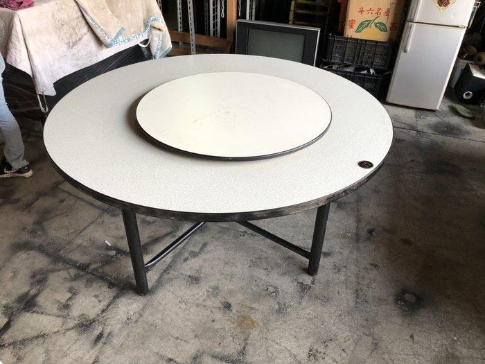 大高雄二手貨中心(全省買賣)---5尺圓桌【剪刀腳】    餐桌     婚宴圓桌     便宜出售