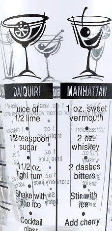 晴天咖啡☼ 酒譜杯 攪拌杯 雞尾酒調酒配方刻度杯 玻璃量杯 計量杯 搖杯 搖酒器 波士頓雪克杯 對口杯