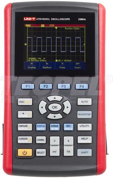 TECPEL 泰菱 》25 MHz 掌上型示波器 單通道 USB 介面 UTD1025CL UT-1025CL 優利德