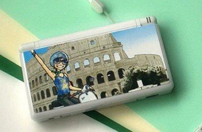 *YOOWOO*特賣【韓國空運 Joy Brush 任天堂 DS 機身面板保護貼~羅馬假期】NDSL NDS不留殘膠