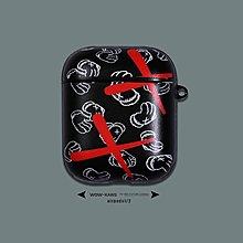蘋果 Airpods 藍牙耳機保護套 防塵套情侶KAWS XX蘋果airpods保護套無線耳機軟殼airpods1.2代