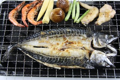 【中秋烤肉食材】來點不一樣的~烤鯖魚一夜干/ 約300g±5%/尾