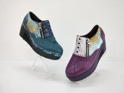 ║阿貴鞋麗屋║ Macanna 麥坎納專櫃 果嶺系列 綿羊皮拼接 金屬雙鍊 氣墊鞋 163160