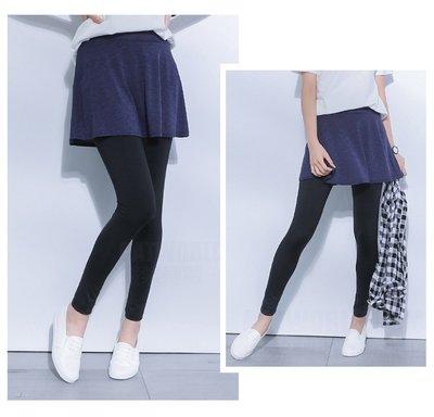 【Hao Da】全館399免運↘「M~XL。現貨」假兩件 短裙內搭褲 (P1005)