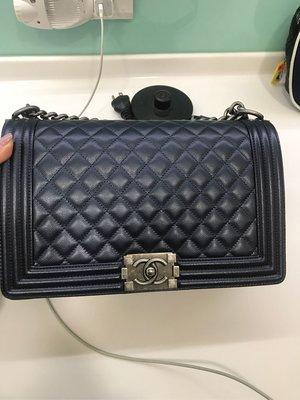 珠光藍,Chanel boy 28荔枝皮,謝絕議價供vivian下標 台北市