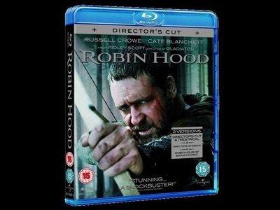 【BD藍光】羅賓漢 導演版+劇院版:BD + DVD 雙碟版Robin Hood(中文字幕) 羅素克洛