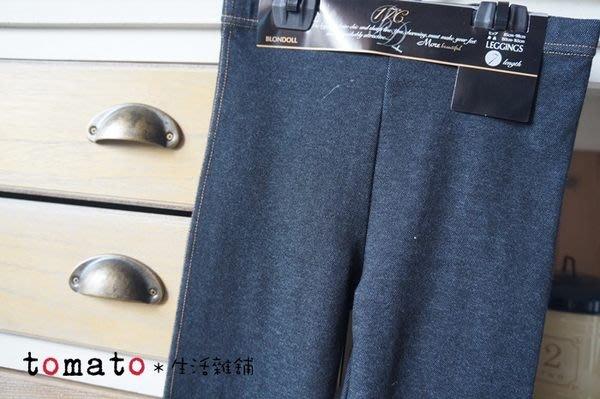 ˙TOMATO生活雜鋪˙日本進口日本製17度C仿單寧牛仔七分丈內搭褲