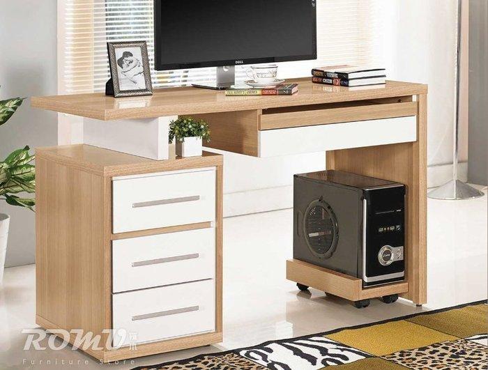 【DH】商品編號415-802-6商品名稱明日4尺木心板雙色造型書桌。簡約雅緻優質。主要地區免運費