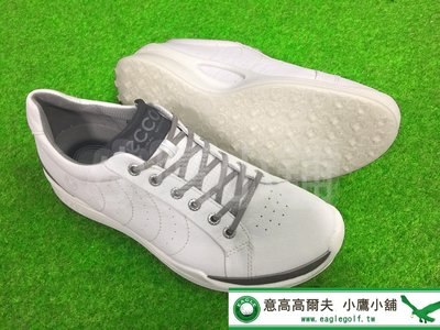 [小鷹小舖] ECCO GOLF BIOM HYBRID 13161401152 高爾夫 球鞋 軟釘 天然牛皮鞋面