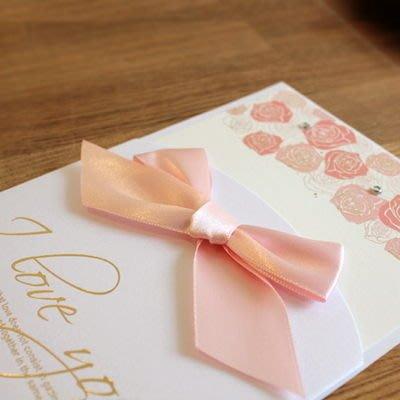 ♀高麗妹♀韓國 nt-tree Ribbon Greeting Card 閃閃蝴蝶結緞帶卡片/愛情.生日卡(2款選)預購