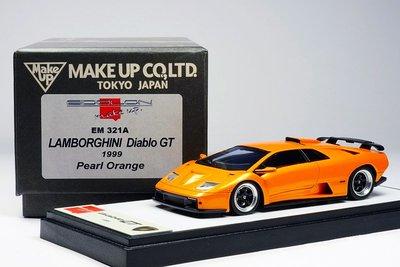 【秉田屋】現貨 Make Up Eidolon Lamborghini 藍寶堅尼 Diablo GT 珍珠橘 1/43