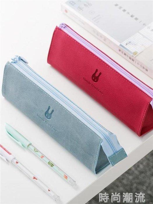 文具袋韓國簡約大容量筆袋 小清新女生 ins日系初中高中生鉛筆盒
