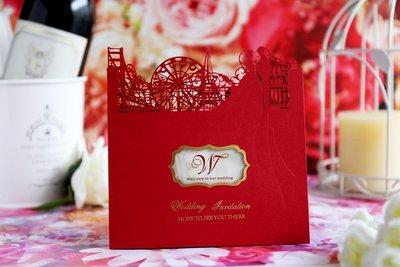 《 ♥米夏‧德  手作婚卡設計 ♥》精緻進口喜帖/照片喜帖設計※|特價20元喜帖|婚卡編號:DC-6116