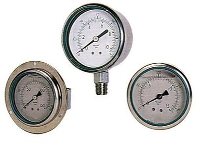 全不鏽鋼SUS316不銹鋼壓力錶壓力計真空計真空錶真空表負壓表負壓錶壓力表聯成計充油pressure gauge