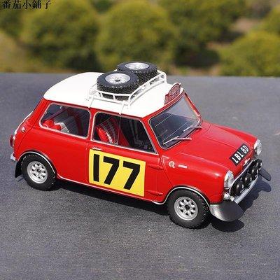 1:18 IXO寶馬迷你憨豆MINI Cooper 177#蒙特卡洛賽車合金汽車模型 模型車
