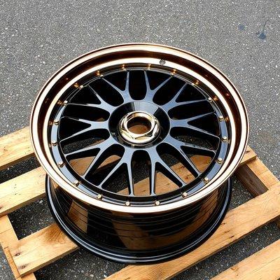 CR輪業 全新 RSM RF01 PLUS 19吋 旋壓輕量化鋁圈 黑底古銅金 5/100 5/114 5/112