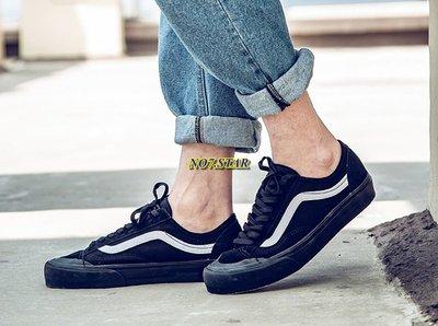 Vans Style 36 Decon SF 短頭 全黑 黑白 白線 麂皮 帆布 殺人鯨 男女鞋 VN0A3MVLV8C