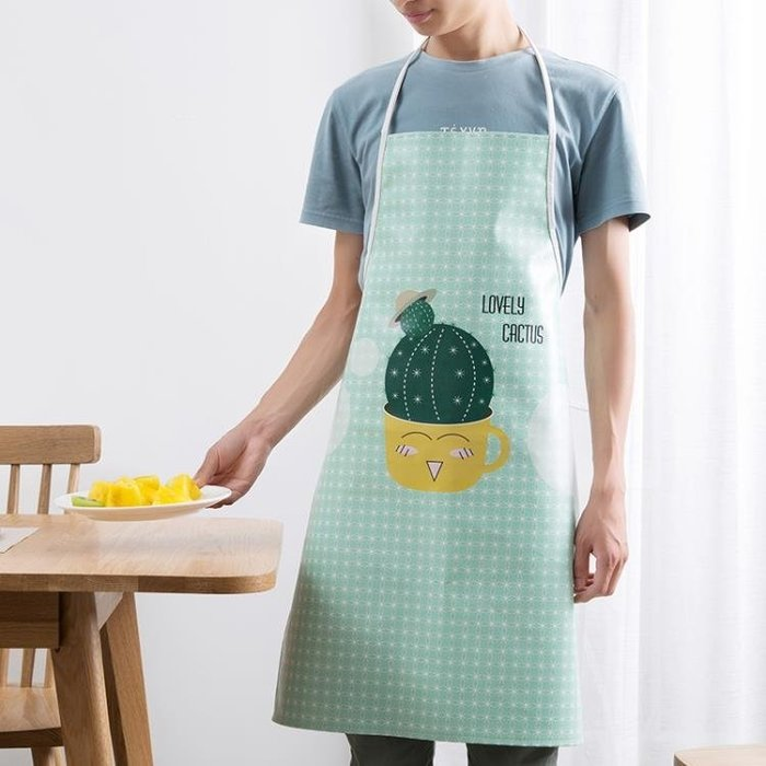 圍裙防水家用做飯防油廚房簡約成人
