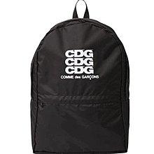 川久保玲 CDG 最新Logo 後背包 黑色 comme des garcons