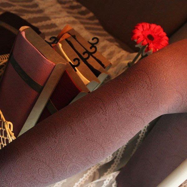嘉芸的店 日本天鵝絨不透明花紋日本褲襪 低調奢華 復古風花紋 日本優質女士褲襪 保暖襪