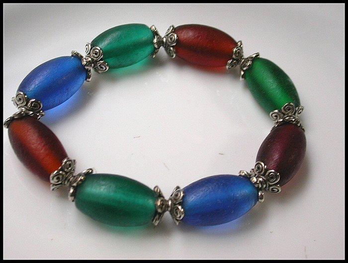 【雅之賞|藏傳|佛教文物】*特賣* 老料古法手工老琉璃手珠~Q1265