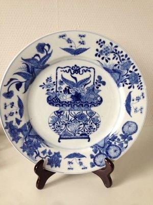 清代  康熙  青花大盤 1654年‵~~~1722年間製