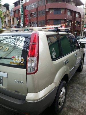 (小鳥的店)日產 X-TRAIL 快克 橫桿 車頂架 行李架附認證 TIIDA LIVINA Nissan