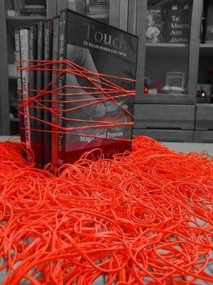 魔術魂道具Shop  美國 ~ 魔術 潮流橡皮筋 ~ 橘色  無乳膠 過敏者