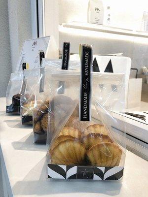 Amy烘焙網:10套入/日式簡約透明直立小蛋糕包裝袋/馬德蓮雪花酥曲奇餅乾糖果磅蛋糕/可手提點心袋