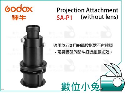 數位小兔【GODOX SA-P1 Projection Attachment (without lens)】公司貨