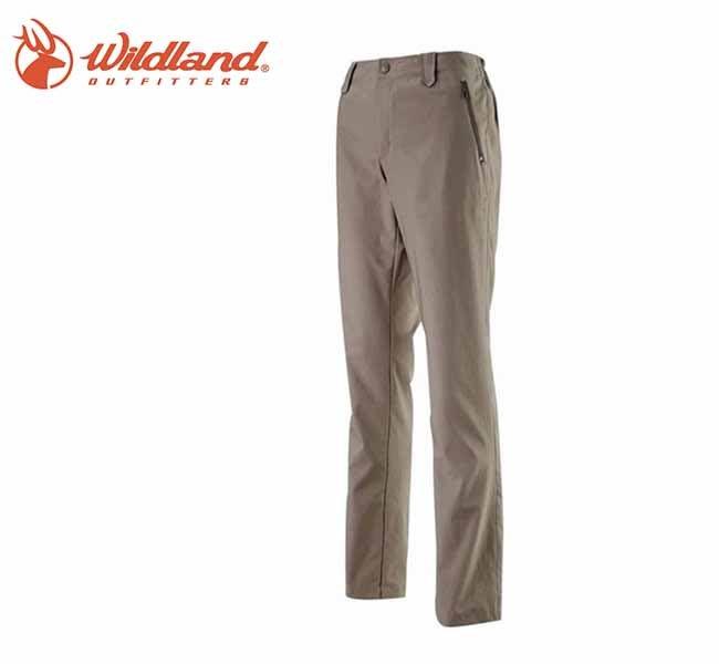 丹大戶外 【Wildland】荒野 女款小喇叭抗UV休閒長褲 0A11333-82卡其色
