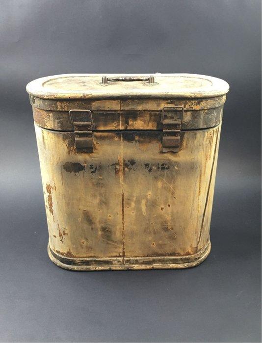 【青空古市】早期 後背置物木桶 橢圓木箱 木盒