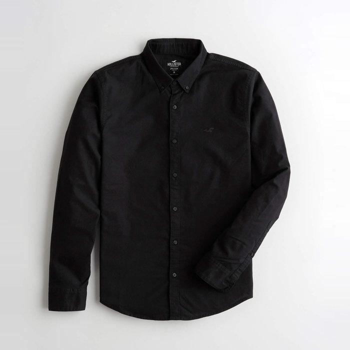 【HOLLISTER Co.】【HCO】HC男款長袖襯衫左黑小鷗黑 F03201008-01