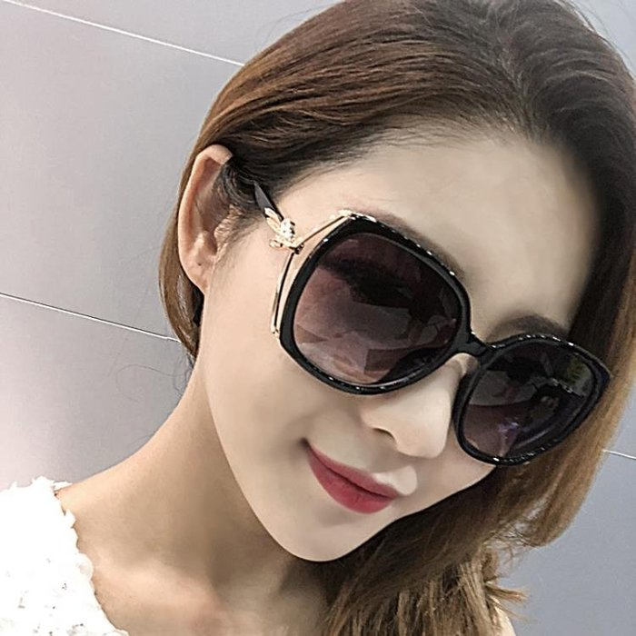 太陽鏡 墨鏡新款  太陽鏡女圓臉長臉明星款墨鏡女方臉大臉簡約優雅  限時免運