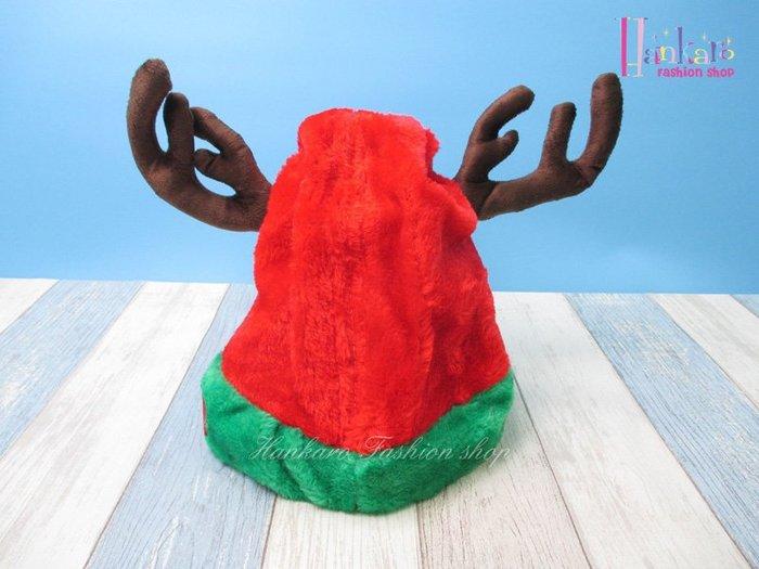 ☆[Hankaro]☆電動搖擺鹿角造型聖誕帽