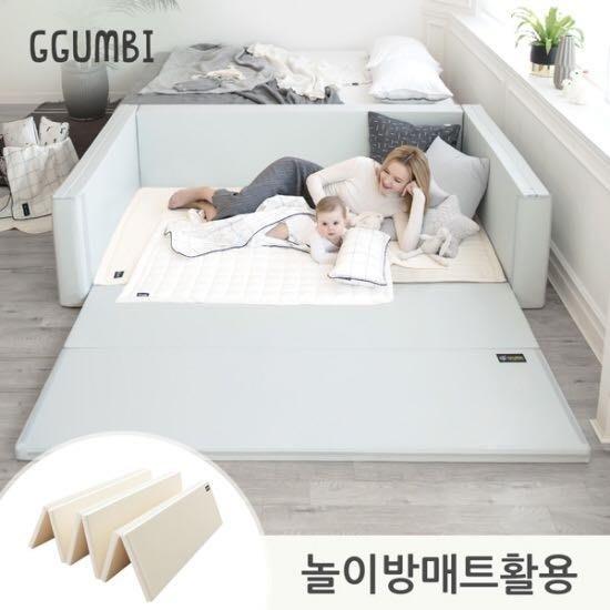 韓國代購 首爾空運直送 Dreamb 城堡圍欄 地墊 圍欄 嬰兒床 180x120x50cm