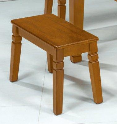 【南洋風休閒傢俱】餐廳家具系列- 柚木色短板凳 用餐椅 等待椅 (金623-14)