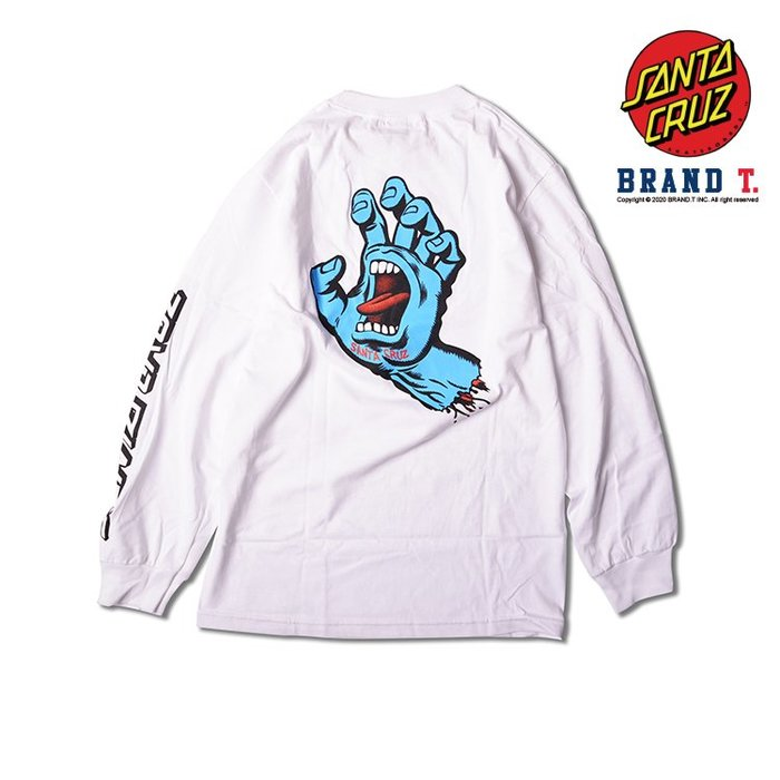 【Brand T】Santa Cruz SCREAMING HAND L/S T-SHIRT 白色*吶喊之手*薄長T