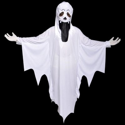 萬圣節兒童服裝死神披風成人男女鬼衣白色幽靈吸血鬼LB2837